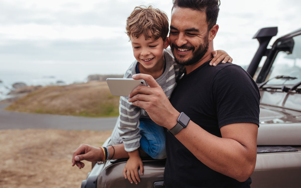 Homepage - Father And Son On Phone